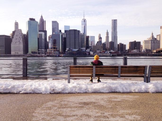 staring at the city