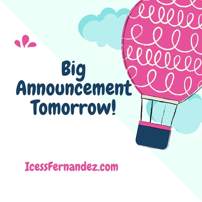 Big AnnouncementTomorrow!